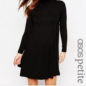ASOS PETITE Long sleeve Turtleneck Swing Dress